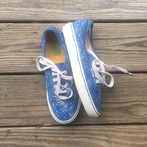 a07d25fd97a5c1 Vans Shoes - Graphic blue vans